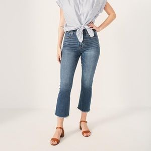 Abercrombie High Rise Ankle Flare Jeans